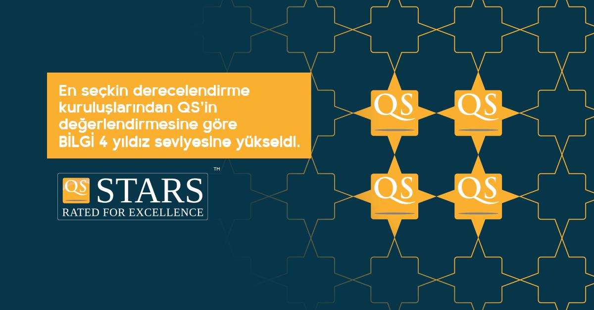 QS Stars'dan BİLGİ'ye 4 yıldız