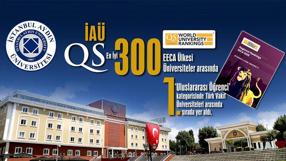 İstanbul Aydın Üniversitesi 'QS En İyi 300 Dünya Üniversitesi' Arasında