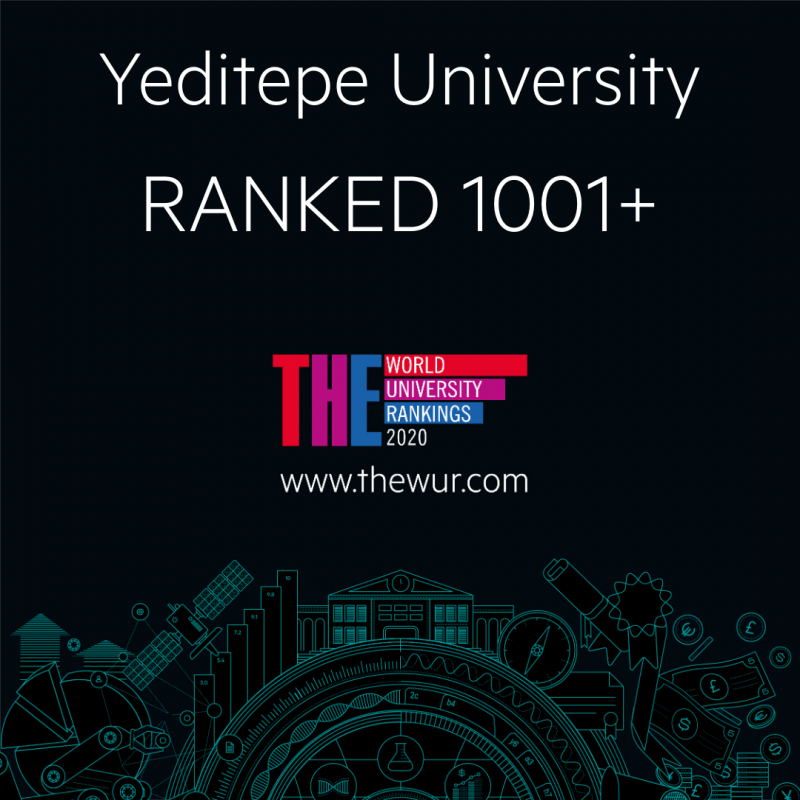 Yeditepe Üniversitesi Dünya Üniversiteleri Değerlendirmesinde 1001+ Sıralamasında Yer Aldı