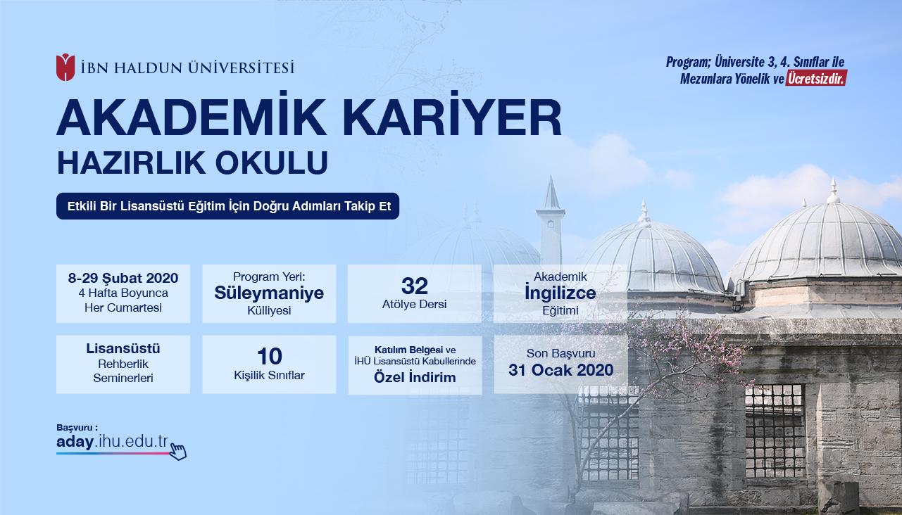 İbn Haldun Üniversitesi'nin 'Akademik Kariyer Hazırlık Okulu' Eğitimlerine Başladı