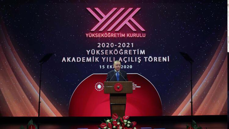 Cumhurbaşkanı Erdoğan: Yükseköğretimde de yüz yüze eğitim öğretimi başlatmayı hedefliyoruz