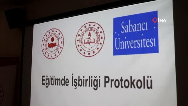 Sabancı Üniversitesi'nden Ayvalıklı öğrencilere 224 adet bilgisayar