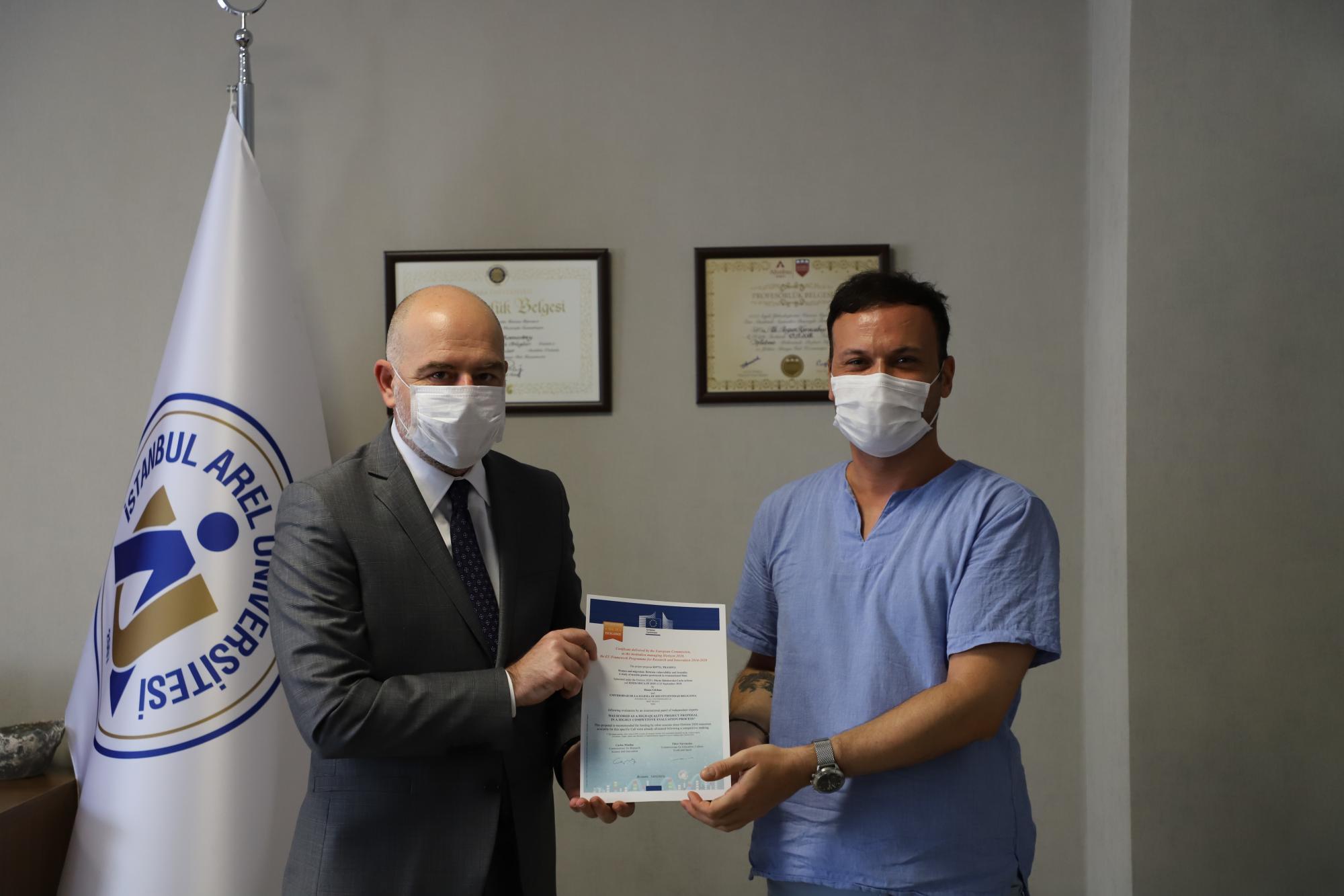 Avrupa Komisyonu'ndan Dr. Öğr. Üyesi Hasan Gürkan'a Ödül