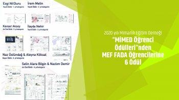 2020 MİMED Öğrenci Ödülleri'nde MEF FADA'ya 6 Ödül!