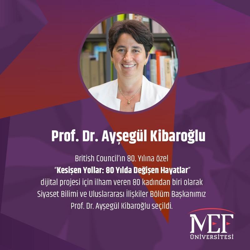 Prof. Dr. Ayşegül Kibaroğlu British Council Tarafından İlham Veren 80 Kadından Biri Olarak Seçildi!