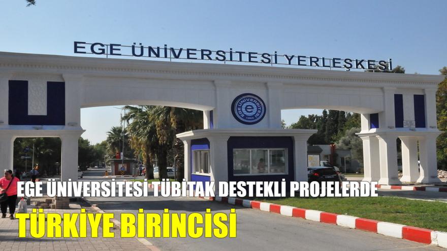 Ege Üniversitesi TÜBİTAK Destekli Projelerde Türkiye Birincisi