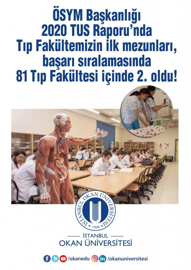 Okan Üniversitesi Tıp Mezunlarının TUS Başarısı