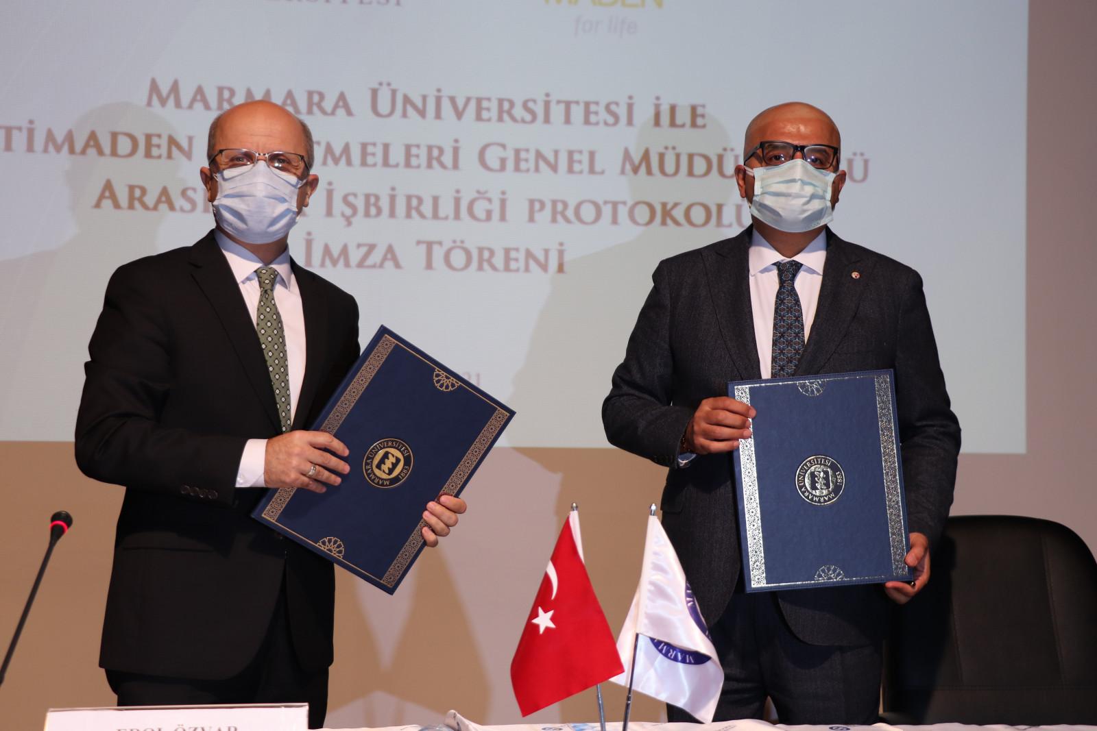 Marmara Üniversitesi ve Etimaden İşletmeleri Genel Müdürlüğü Arasında AR-GE İş Birliği Protokolü İmzalandı