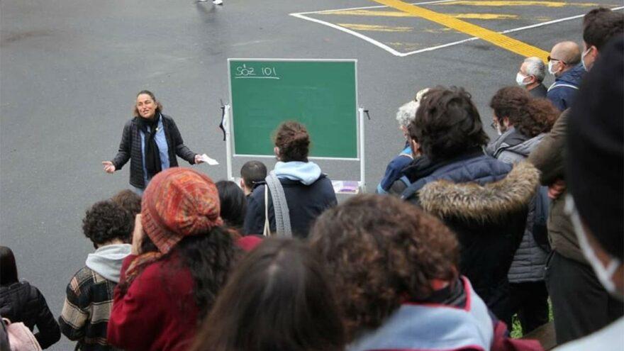Boğaziçi Üniversitesi'nde Açık Hava Dersi
